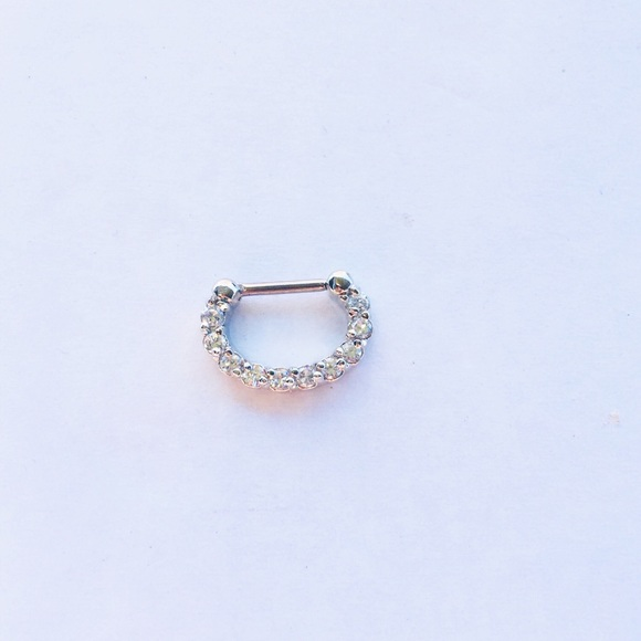 Jewelry Clear Gem Septum Ring Septum Clicker Piercing Poshmark